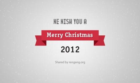 """""""Merry Christmas""""圣诞节贺卡(PSD)"""