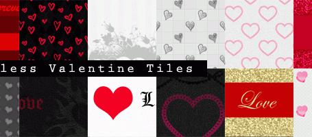 12个情人节主题无缝平铺网页背景素材