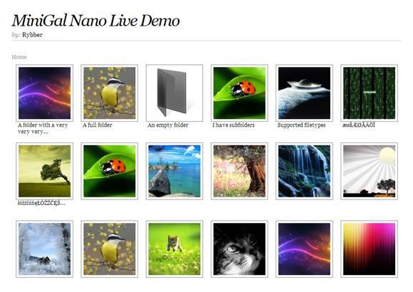 MiniGal Nano – 免费、简单、用户界面友好的 PHP/HTML/CSS 相册源码