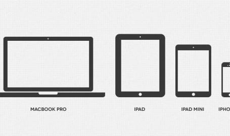 迷你苹果设备图标(PSD)