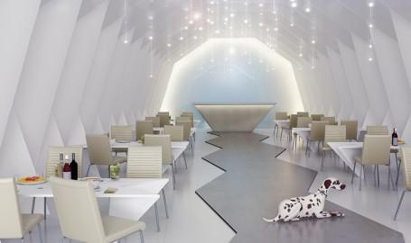 折纸餐厅 - 建筑设计