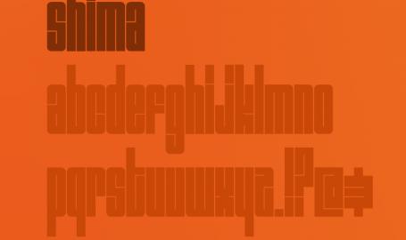 石马字体 / Shima Typeface - 字体设计 / Fonts Design