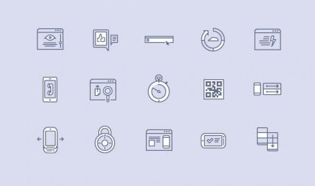完全矢量的网页应用程序图标设计