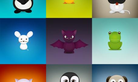 Cute Critters - 免费图标套件包
