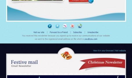 Festive Mail - 圣诞节邮件模版