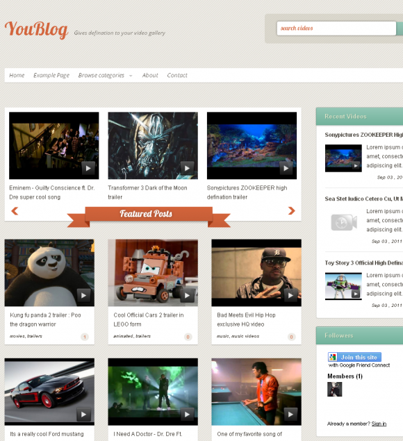 Freebie blogger video template YOUBLOG