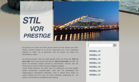 HAMBURG HARBOUR - 休闲商务风格网店网页设计