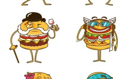 La Res Burgers - 矢量插图设计