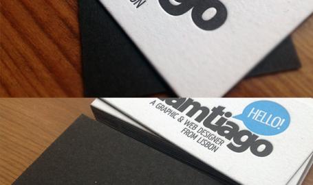 LamTiago - 平面与网页设计师商业名片设计