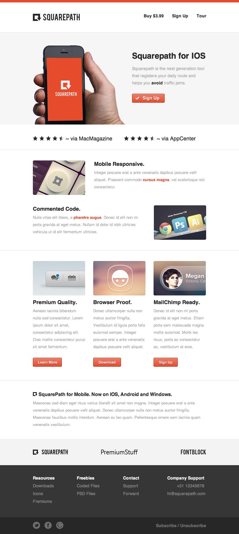 SquarePath – 电子邮件模版设计