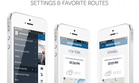Turkish Airlines - iPhone 应用程序界面重新设计