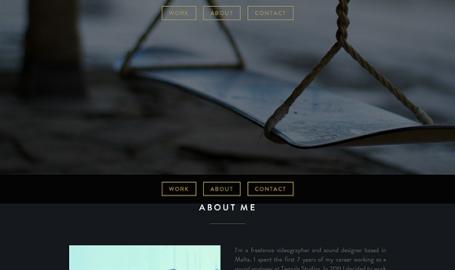 Cedric Vella - 音响设计师个人网页设计