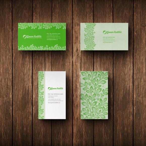 Green Rabbit – 绿化、园林规划公司名片设计 - 任刚 · Ren Gang 世界设计 · 设计世界