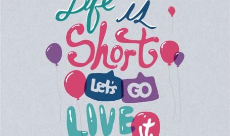 Life is Short - 字体图案设计