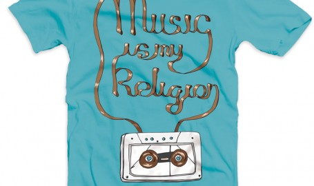 Music Is My Religion - T恤设计