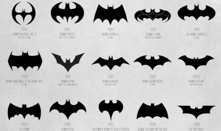 Batman / 蝙蝠侠 标志演化过程 - 海报设计