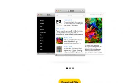 Bits site - 苹果APP促销网页设计