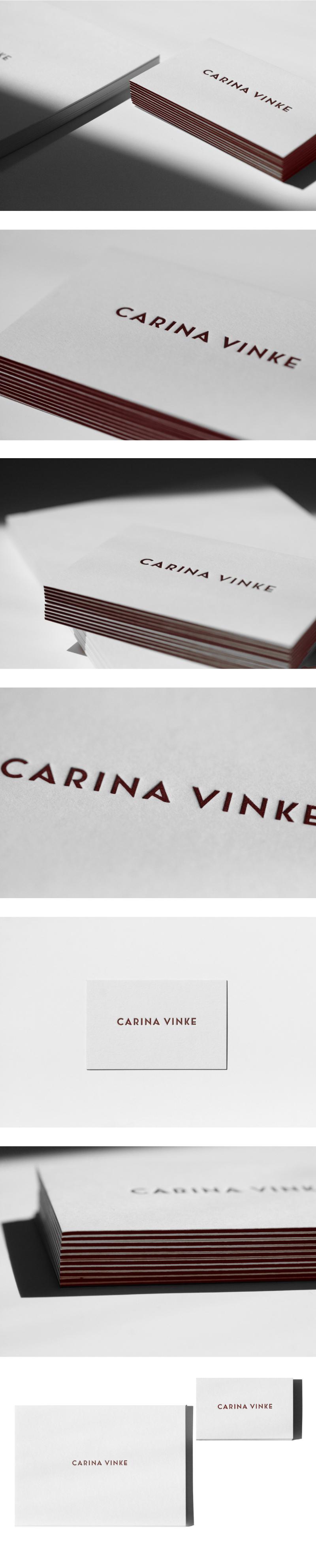 Carina Vinke alt – 凸版简约定制名片