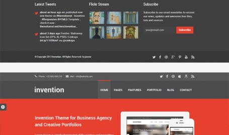 Invention - 响应 HTML5 网页模板