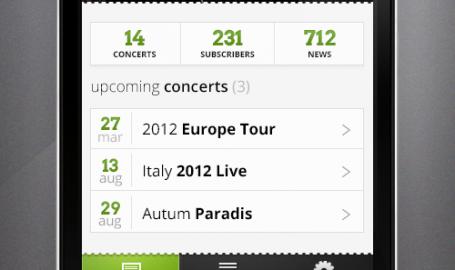 Music Band - iPhone应用程序用户界面设计