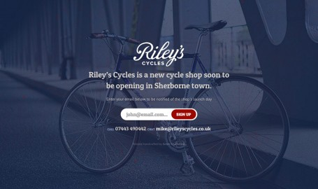 Riley's Cycles - 网页设计
