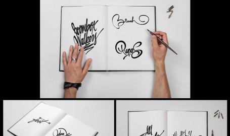 Sketch Book - Calligraphy Book Mock-up - 装帧设计