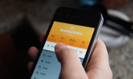 WARSZAWA - 手机天气应用程序界面设计