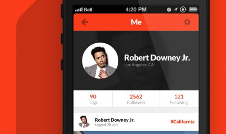 CityTag profile concept - 移动应用用户界面设计