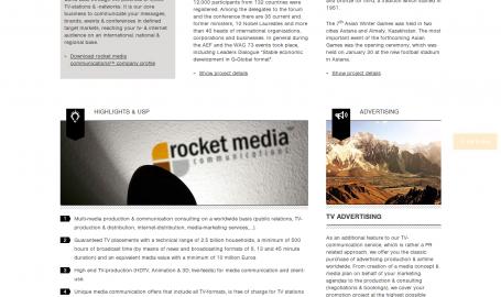 Rocket Media Communication - 网页设计
