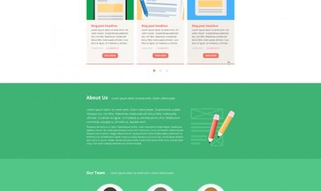 Immagine - 单页网页主题模板