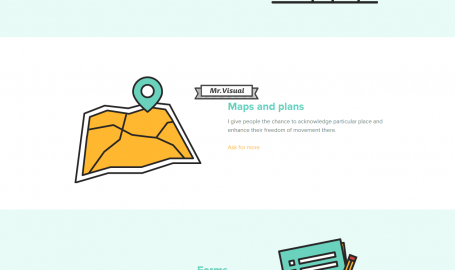 Mr. Visual - 个人主页设计