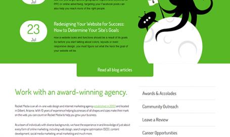 Rocket Media - 网页设计