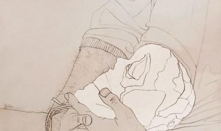 The skull lover - 手绘插图