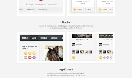 Xbition-art, Portfolio de Julie Franck - OnePage 网页设计