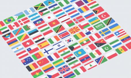 Free Flat Flags - 100个免费国旗图标素材套件