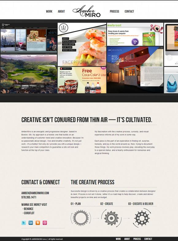 AmberMiro Design Studio – OnePage网页设计 - 任刚 · Ren Gang 世界设计 · 设计世界