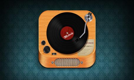 Record Player - 唱片机图标设计