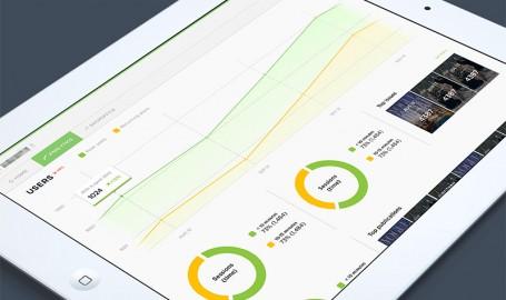 Analytics dashboard UI - 移动应用用户界面设计