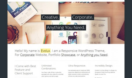 Evolux - Responsive Multi-Purpose - Wordpress响应主题