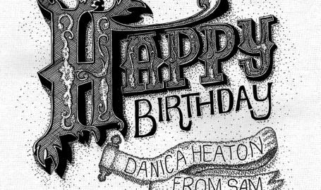 Happy Birthday Card - 活版印刷