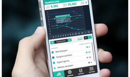 SEO Monitoring Mobile App - 手机APP用户界面设计