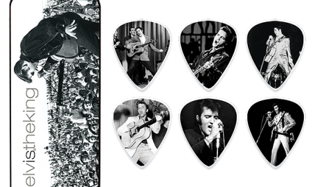 Elvis the King Pick Tins EPPT01 - 猫王纪念款拨片图形设计