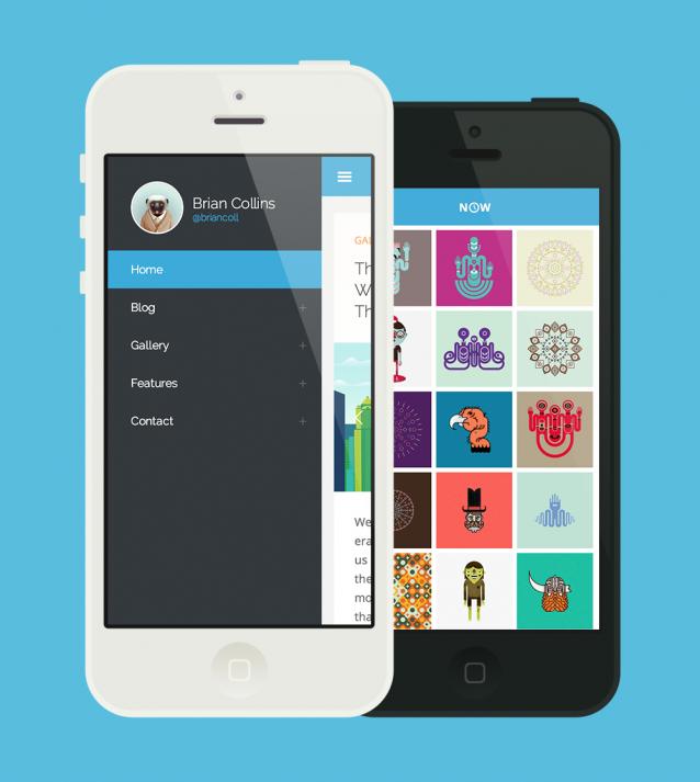 Now – Extensive Theme For Bloggers & Developers – 手机网页模板 - 任刚 · Ren Gang 世界设计 · 设计世界