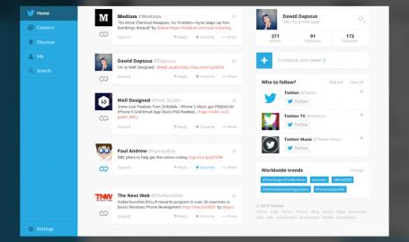 Twitter 全新概念设计 - 网页设计