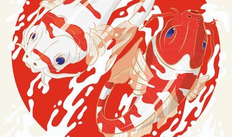 鲤 / KOI Fish - 野生动物艺术海报设计
