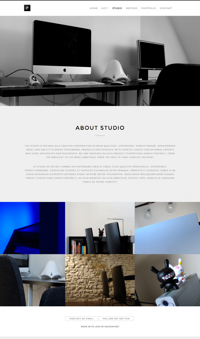 DESIGNFIRST. An independent creative design studio and web agency from Belgium 3.
