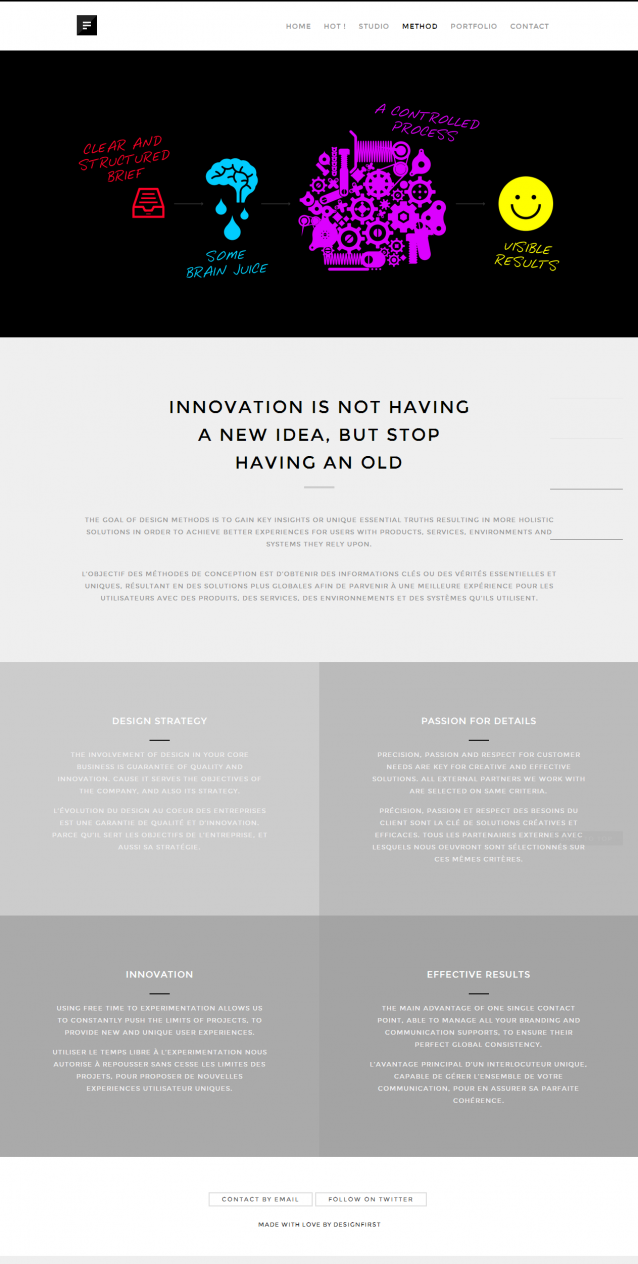 DESIGNFIRST. An independent creative design studio and web agency from Belgium 4.