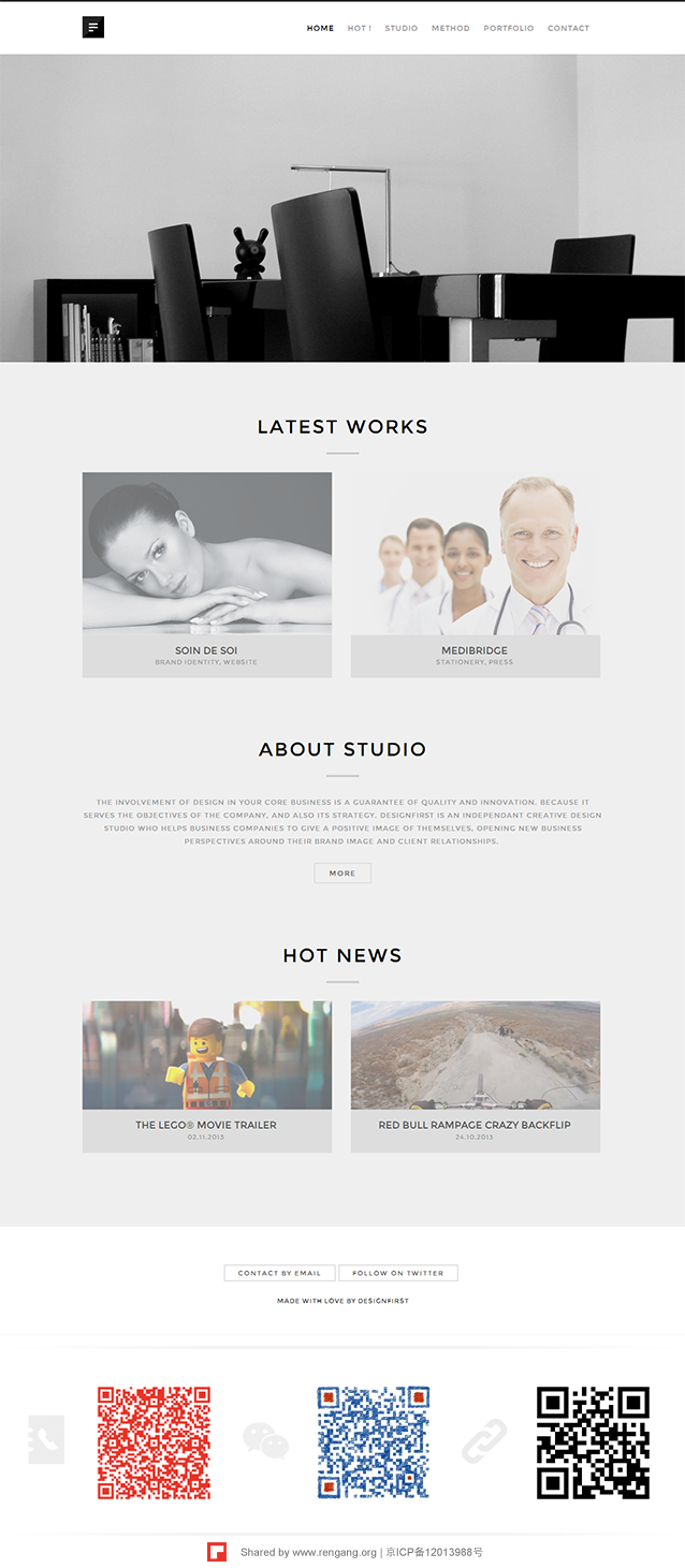 DESIGNFIRST. An independent creative design studio and web agency from Belgium.