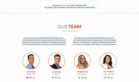 FlatWeb - OnePage 多媒体商业模板