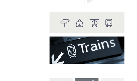 Transportation icons - 官方网站网页设计